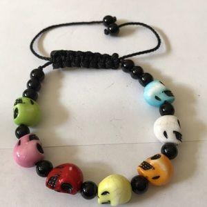 Skull adjustable bracelet